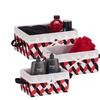 Twisted Tote Set Of 3 (Black, Red, White)