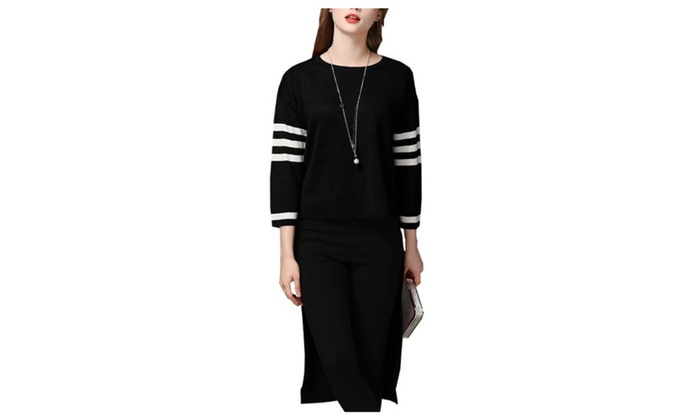 Women's Long Sleeve Casual Hi-low Hem Pullovers