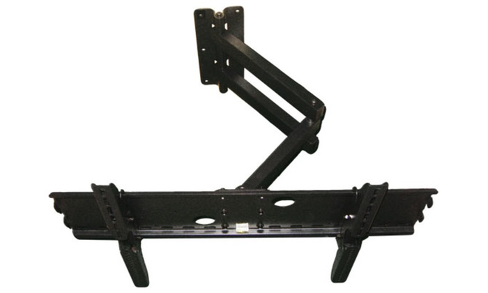 heavy duty long arm full motion tv mount for tv screen sizes 32 80 groupon. Black Bedroom Furniture Sets. Home Design Ideas