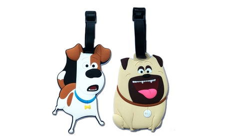 Secret Life of Pets PVC Luggage Bag Backpack Baggage Purse Tag a68c7969-cdde-47c8-9cff-427636d5f419