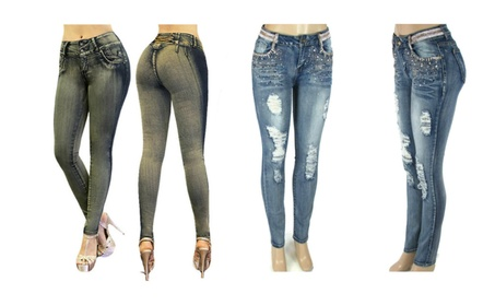 Women's Skinny Butt Lifter Jeans in Junior Sizes Colombian Designs 83cd6e5b-2a77-441f-989c-c36725836819