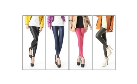 NEW Black slim Fashion Women Sexy Skinny Faux Leather Waist Leggings 15b20d46-ed59-4315-9eef-a32acf1a3f65