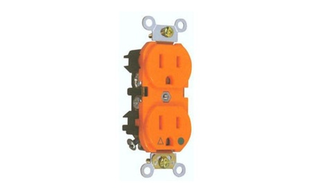 Morris Products 82228 Isolated Ground Duplex Receptacle Orange 15A-125 photo