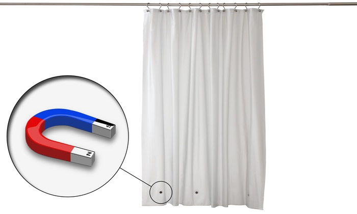 Heavy Weight Magnetic Shower Curtain Liner