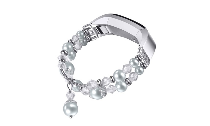 For Fitbit Alta HR/Alta Bands,Pearl Natural Stone Bracelet