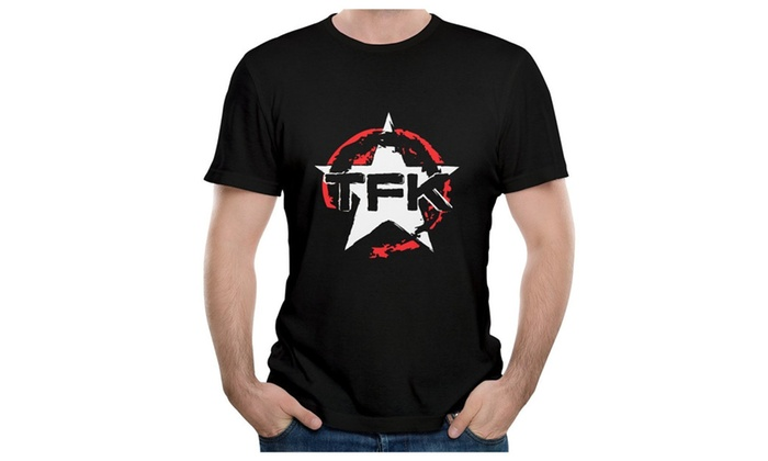 Man Rock Band Thousand Foot Krutch Symbol Print Black Cool T Shirt