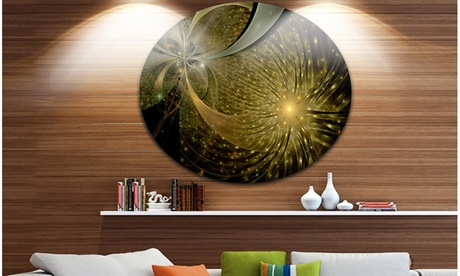 Symmetrical Firework Pattern' Disc Large Contemporary Circle Metal Wall Arts 016fdf7f-50c6-41da-8050-377102fc12ee