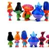 6pcs Cartoon Trolls Dolls Toys Set Action Figures Model Toys Kid Gift