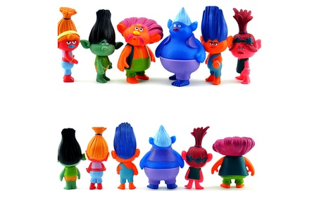 6pcs Cartoon Trolls Dolls Toys Set Action Figures Model Toys Kid Gift 4690cf25-2f13-4312-88ef-85667fc3e540