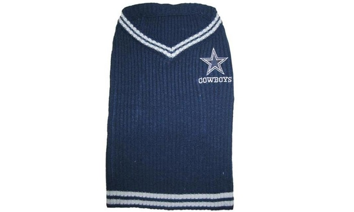 online retailer c883a 80c28 Pets First 849790048256 Dallas Cowboys Dog Sweater - Medium
