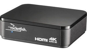 Rocketfish 4K Ultra HD and HDR Compatible 2-Output HDMI Splitter