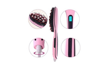 Anti-Static Hair Straightener Comb Brush LCD Display Digital Electric 92b90b72-efae-4313-ae4a-d89ac53dbd2b