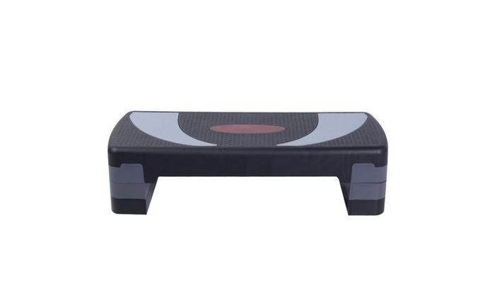 """30"""" Fitness Aerobic Step Exercise Stepper Platform Adjust 4""""- 6""""- 8"""""""