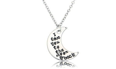 I love you to the moon and back Necklace 6f089976-eae7-40a5-af61-64a83a75aa7d