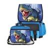 Kidaroo Lightning Rex Dinosaur School Backpack & Lunchbox for Boys