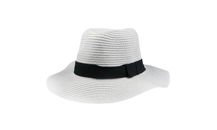 f37acf957b0cf2 Up To 50% Off on Women's Wide Brim Hat Spring ... | Groupon Goods
