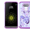 Insten Flowers Hard Hybrid Rubber Silicone Cover Case with Diamond For LG G5