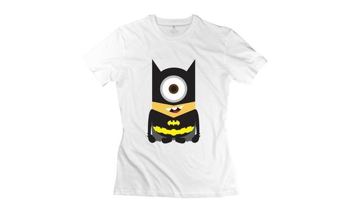 ad4f94b80a8 Xuruw Women s Minions Batman Quotes T-Shirt White