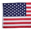 New 3' x 5' FT USA US U.S. American Flag Polyester Stars Brass