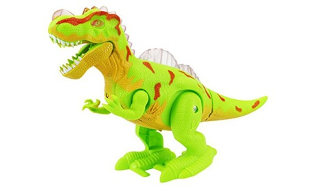 Dinosaur Age Tyrannosaurus Rex Battery Operated Walking Toy Dinosaur Figure d2081e6c-065f-4370-a33f-f2216c38bf5b