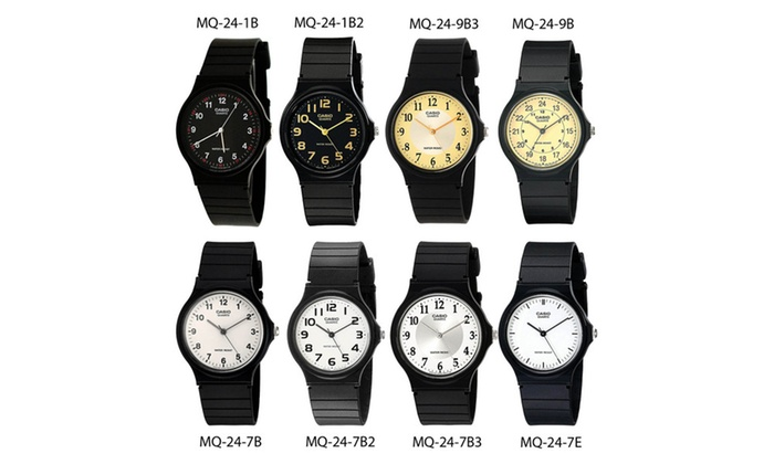 3b8af58d0 Casio MQ24 Men's Classic Analog Watch with Resin Band Water Resistant