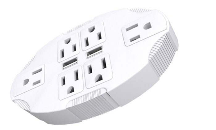Outlet Transformer Six Plug USB Adapter Stanley Electrical Wall Tap