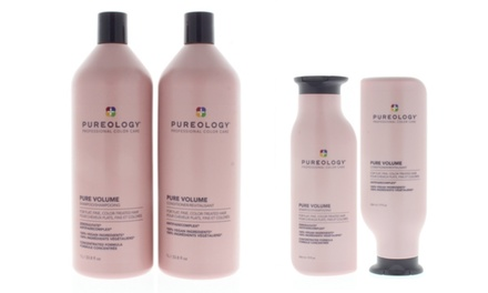 Pureology Pure Volume Shampoo OR Conditioner OR Duo 9 oz OR 33.8 oz Was: $71 Now: $46.49.
