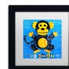 Design Turnpike 'Oo Ah Ah the Monkey' Matted Black Framed Art