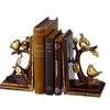 Gold Bird on Brand Bookend Pair