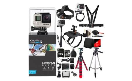 Gopro HERO 4 Edition Camera 4k Action Camera + 30  Piece Accessory Bun