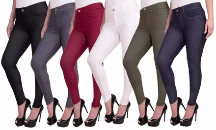 Women's Pull-on Slimming Jeggings Was: $30 Now: $7.99.