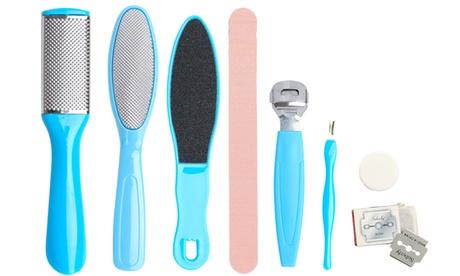 Pedicure Kit Rasp Foot File Callus Remover Scraper Nail Care Tool 8PCS /SET