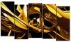Groupon Goods: Red VS Blue - Large Modern Canvas Art - 60x32 - 5 Panels