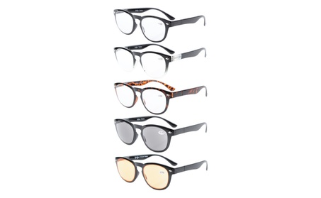 Eyekepper 5-Pack Spring Temple Reading Glasses Includes Computer Glass 7521323c-5b9c-477b-babc-0ac8719d5951