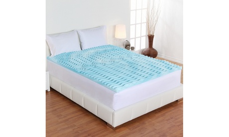 "Authentic Comfort 3"" 5-Zone Orthopedic Foam Mattress Topper"