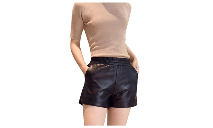 Women's Straight Solid Casual Stylish High Rise Shorts