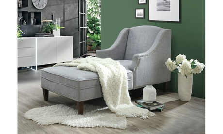 Leonie Fabric Upholstered Chaise Lounge