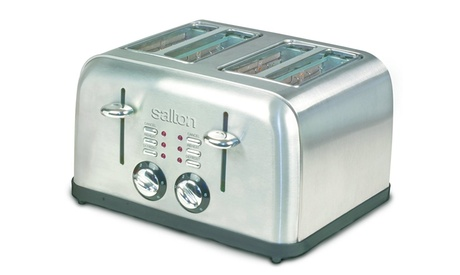 Salton ET1404 S-S 4-Slice Electronic Toaster - Stainless Steel pack of 2 photo