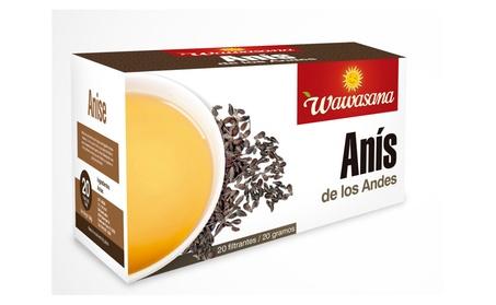 Wawasana. Anise tea herbal, from Peru. 20 teabags, 20 grs