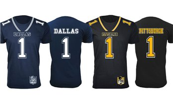 Men's Football Team Jersey T-Shirts (Extended Sizes Available)