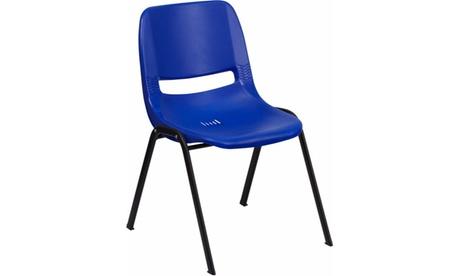 HERCULES Series 880 lb. Capacity Blue Ergonomic Shell Stack Chair f5b0f554-d0dd-448b-82fa-3902d14f9516