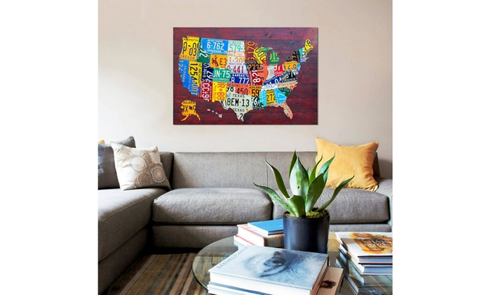 USA Recycled License Plate Map VII by Design Turnpike | Groupon