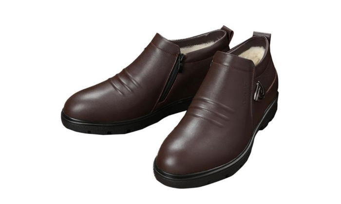 Men's Solid Casual Insulation Dress Shoes