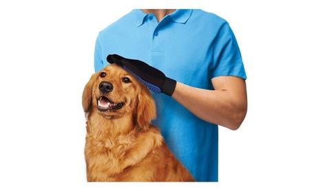 Pet Gentle Deshedding Brush Glove Efficient Pet Hair Remover Mitt ffe0a82b-a496-4083-928a-7079968d759a