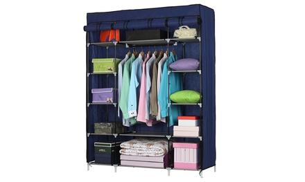 5-Layer Portable Non-woven Fabric Clothes Organizer Wardrobe Storage Closet