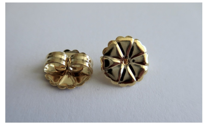 One Pair Of Gold Filled Extra Large Earring Backs