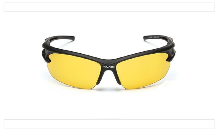 Sport Sunglasses Cycling Glasses Bicycle Bike Fishing Driving – Yellow