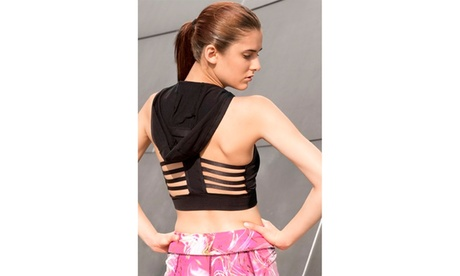 Seamless Performance Style Sports Bra With Hoodie 3175876f-be90-464a-a4b9-46d754a79b7e