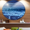 Blue Everywhere Blue Sky and Waters' Seascape Metal Circle Wall Art