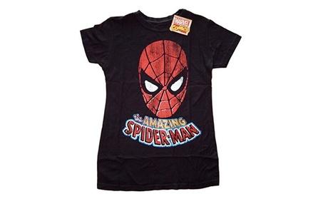 Marvel Comics The Amazing Spiderman Foil Junior's T-shirt c782ba6e-10e2-4f96-a17a-a227a992021c